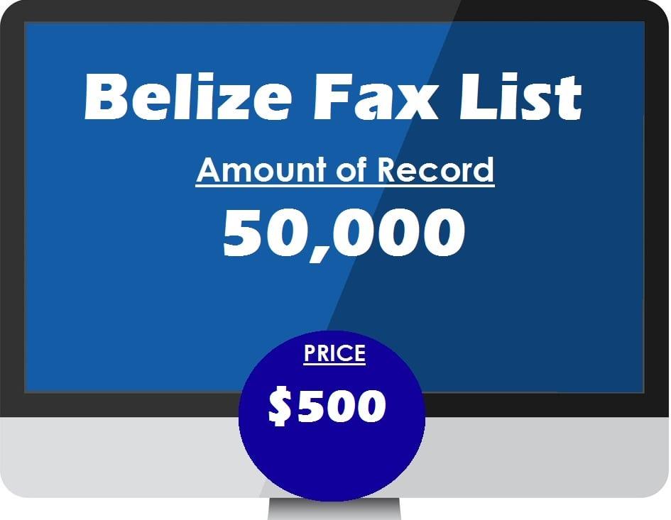 Buy Belize Fax List