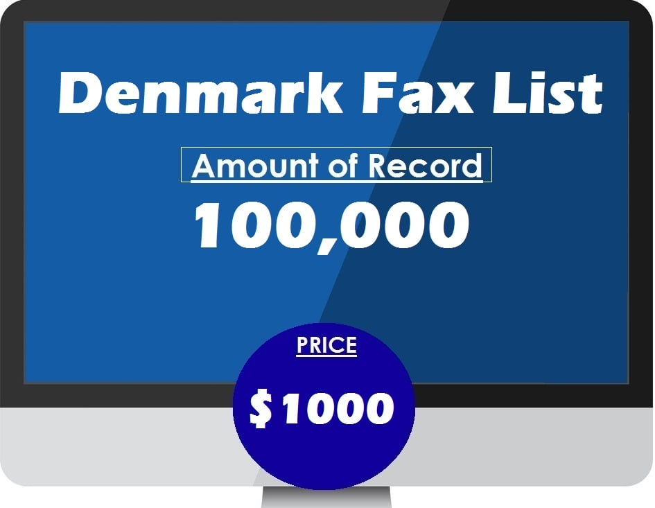 Buy Denmark fax list