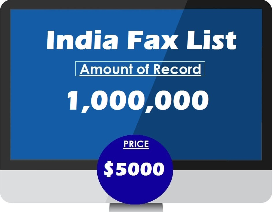 Buy India Fax List