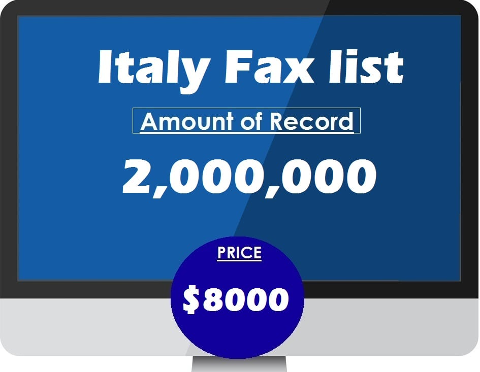 Buy Italy Fax list