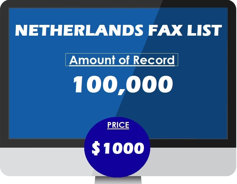 Buy NETHERLANDS FAX LIST