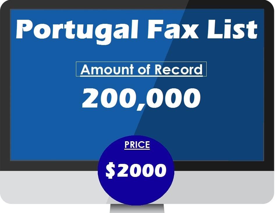 Buy Portugal Fax List