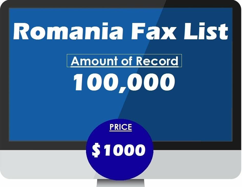 Buy Romania Fax List