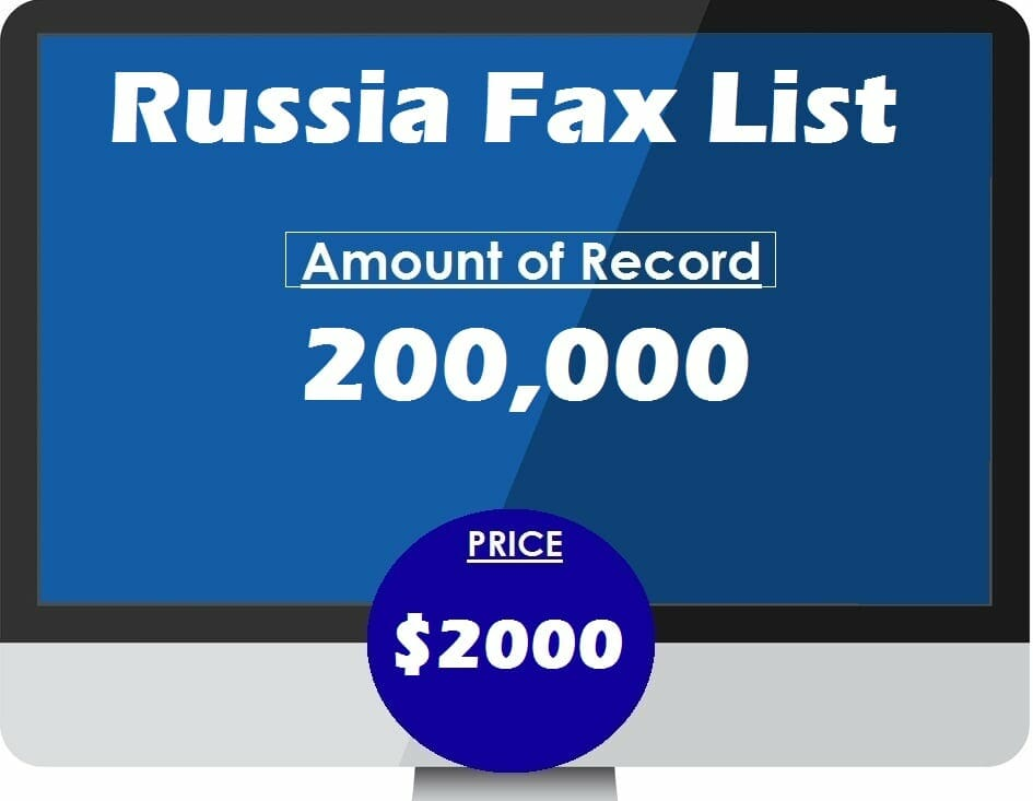 Buy Russia Fax List