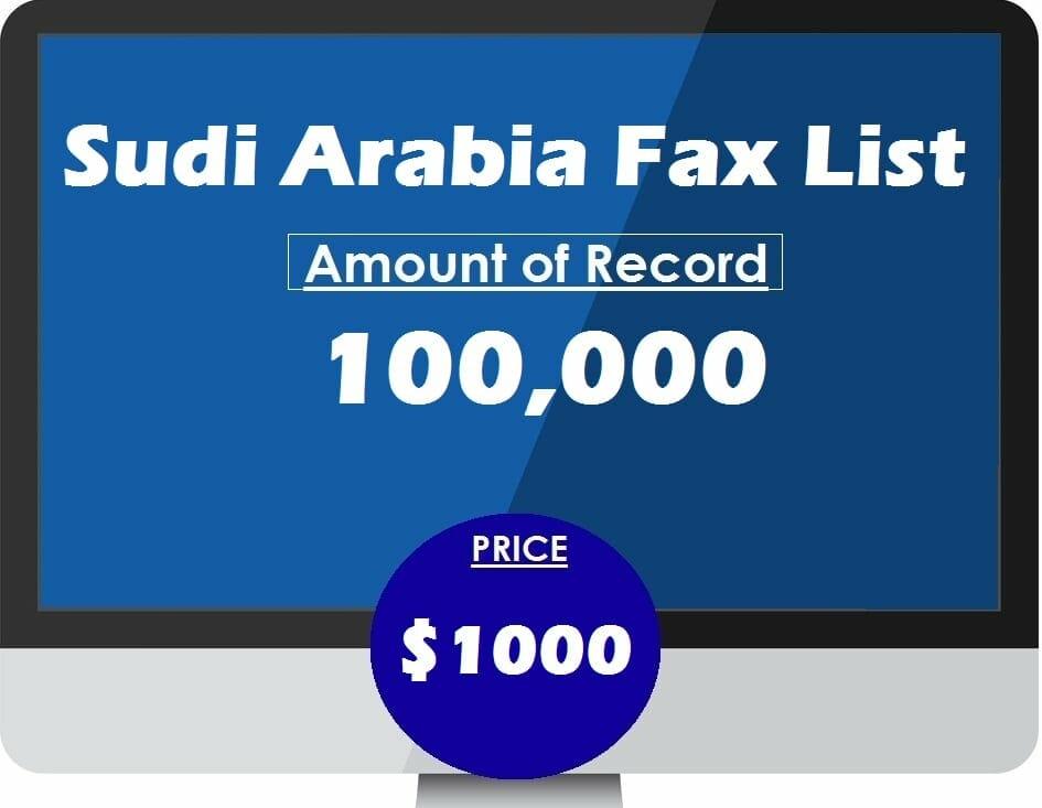 Buy Saudi Arabia Fax List