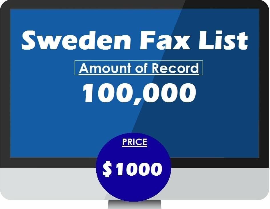 Buy Sweden Fax List