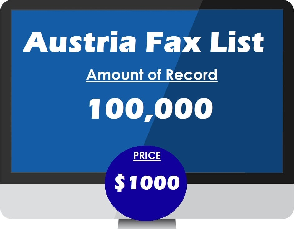 Buy austria fax list