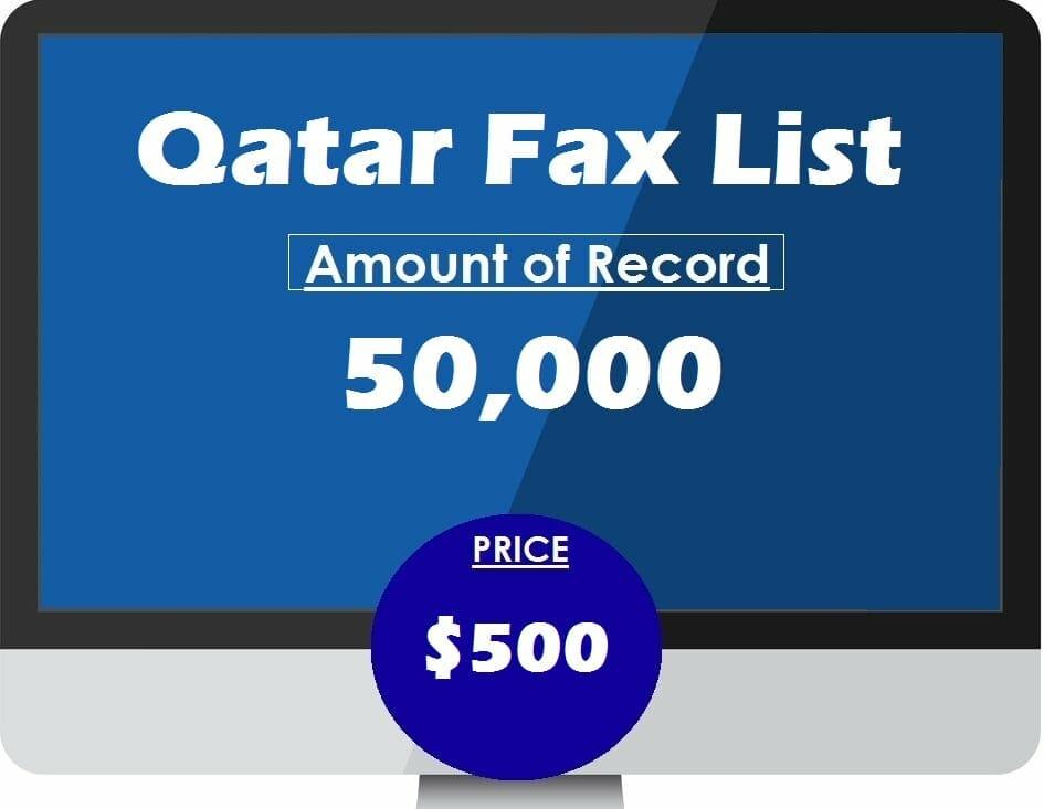 Buy qatar fax list