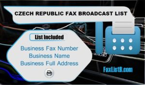 CZECH REPUBLIC FAX BROADCAST LIST