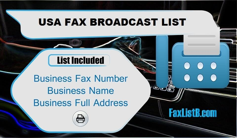 USA FAX BROADCAST LIST